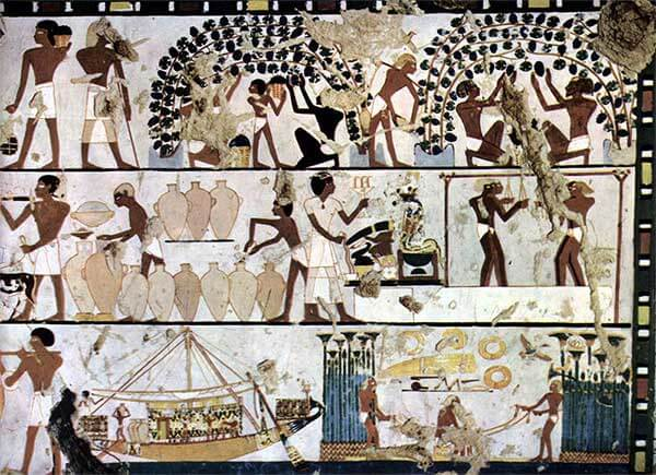 Historia del vino en el Antiguo Egipto