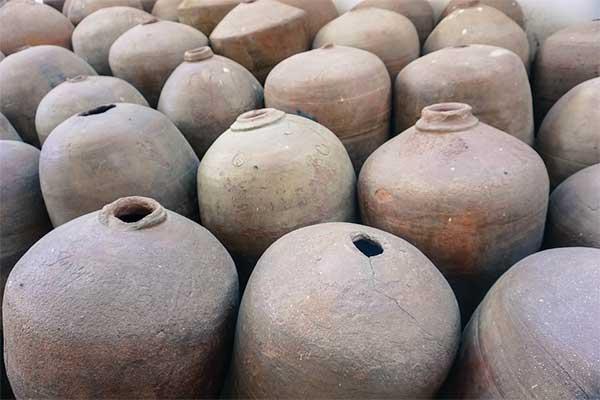 vasijas de vino antiguo