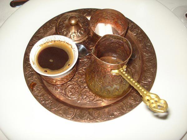 Bebida turca tipica café turco